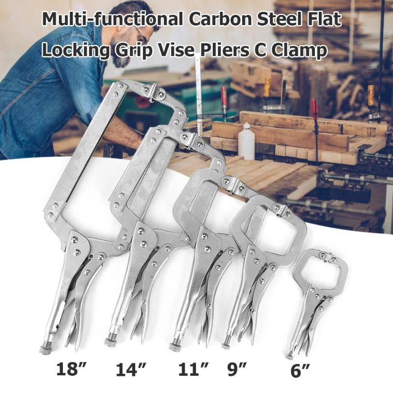 Alloy Steel C Clamp Vise Grip Locking Welding Quick Pliers Pincers Tongs Forceps Wood Tenon Hand Tools Щипцы