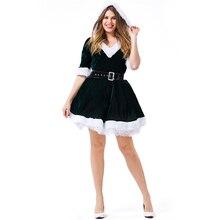 Christmas Costume Women Plus Size Santa Claus Helper Cosplay Adult
