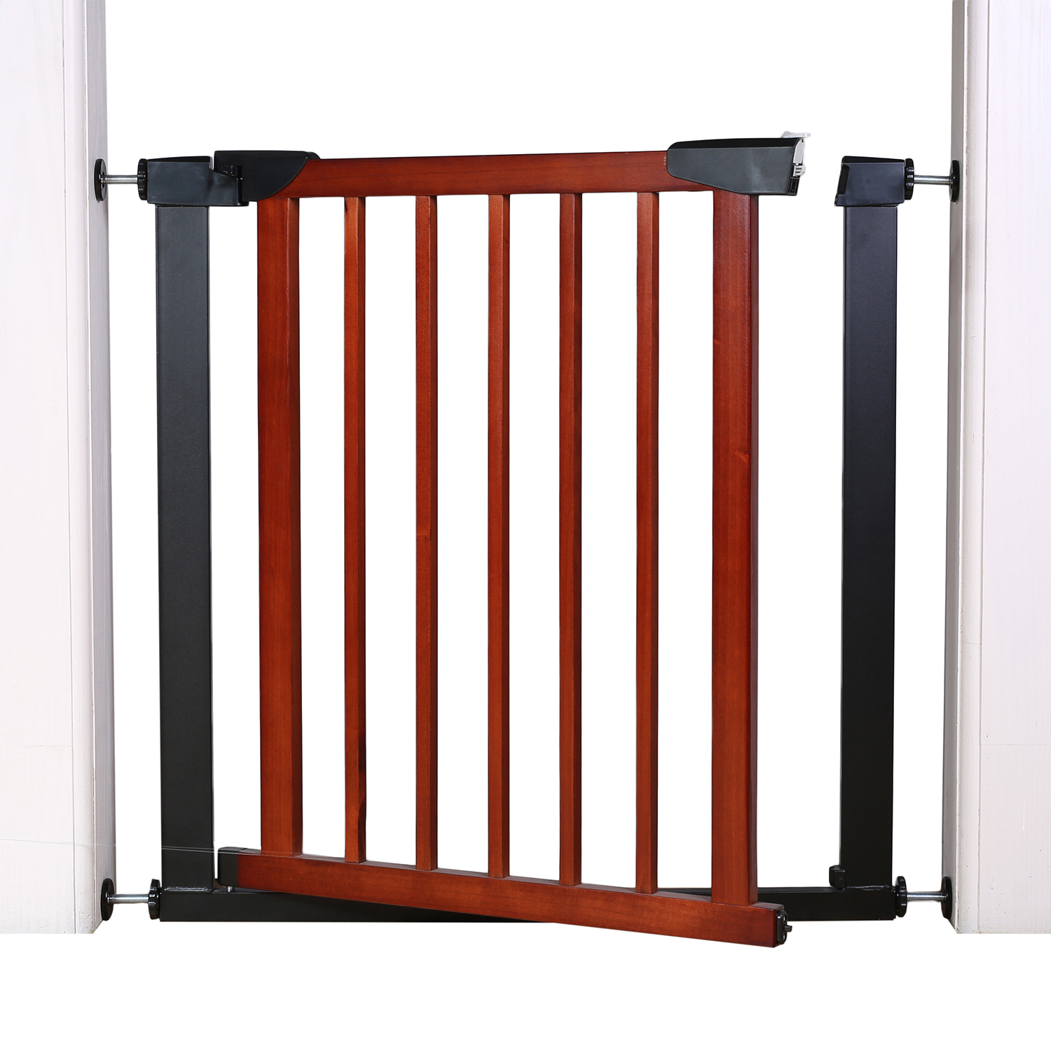 Children Auto Close Wood Metal Pressure Mount Baby Gate Safety Walk Thru Wooden Metals GateChildren Auto Close Wood Metal Pressure Mount Baby Gate Safety Walk Thru Wooden Metals Gate