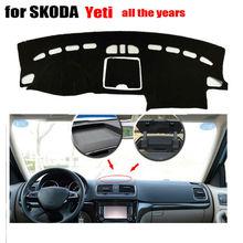 Auto cruscotto copre mat per SKODA Yeti tutti gli anni A Sinistra hand drive dashmat pad dash copre piattaforma Dello Strumento accessori