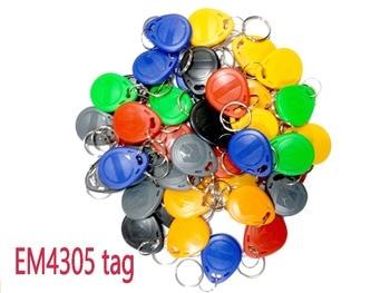 10pcs T5577 EM4305 Keyfobs regraváveis graváveis regraváveis Duplicar cópia de etiqueta RFID 125KHz cartão Proximity Token Key Ring 1