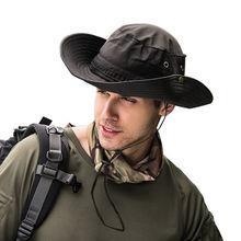 2018 Militar Safari do Panamá Boonie Sun Chapéus Cap Verão Das Mulheres Dos  Homens Camuflagem Chapéu de Balde Com Corda Cap Pesc. 135605f84e7