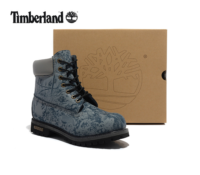 8b2694cf2e2b TIMBERLAND Animal Zoo Print Camouflage Blue Men Premium Ankle Martin Boots