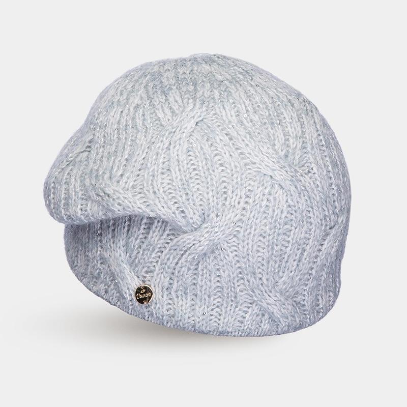 Hat Woolen hat Canoe 3441573 CAPRI winter hat beret knitted women beanie knit hat skullies beanies rabbit fur soft thicken warm woolen gorros bonnets wholesale