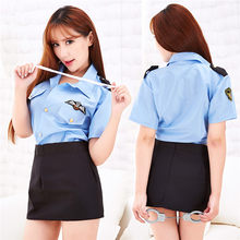 Women Sexy Lingerie Office Lady Student police Uniform Cosplay Costumes Babydoll Lace Erotic Sexy Underwear Exotic Costumes(China)