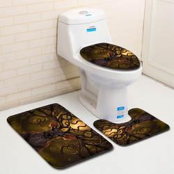 Фантазия Лось 3 шт./компл. туалет коврик 3d ковер ванная комната высокого качества коврик для ванной флис Ванная комната коврик 50x80 см Пол