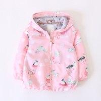 girl coat pink hoode baby jacket for girls jacket kids outerwear spirng children clothes fashion