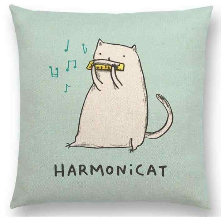 Hglegywhape رسائل مضحك لقب القط الكلب الصلصال كيس وسادة رمي كيس وسادة غرفة لينة الهدايا جانب واحد الطباعة