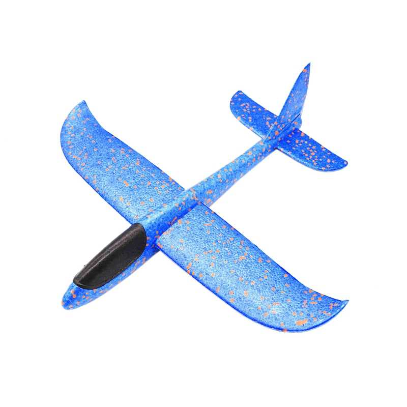 FBIL-48Cm Hand Throw Lighting Up Flying Glider Plane Glow In The Dark Toys Foam Airplane Model Led Flash Games Toys For Childr