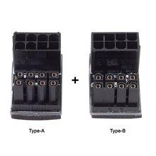 Cablecc питания ATX 8-контактный Женский к 8pin мужской 180 градусов Угловой адаптер для видеокарт настольных компьютеров