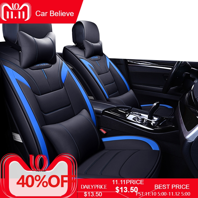 Car Believe car seat cover For audi a3 8p 8l sportback a6 4f A4 A6 A5 Q3 Q5 Q7 accessories covers for vehicle seat new 3d styling car seat cover sports styling car covers ice silk car cushion for bmw audi a3 a4 a6 q7 q5 honda ford crv sedan
