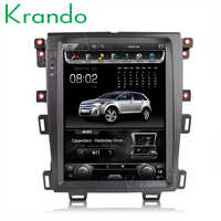 Krando car radio gps for FORD EDGE 2009-2014 android 8.1 12.1 Tesla Vertical screen navigation multimedia system WIFI A/C BT