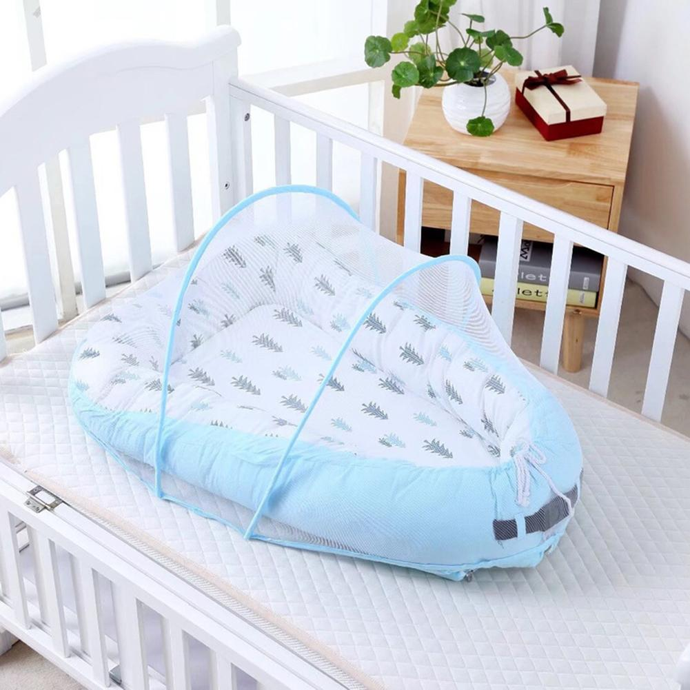 Baby Bassinet For Bed Lounger Breathable Hypoallergenic Cotton Portable Crib For Bedroom Travel High Quality Fabric