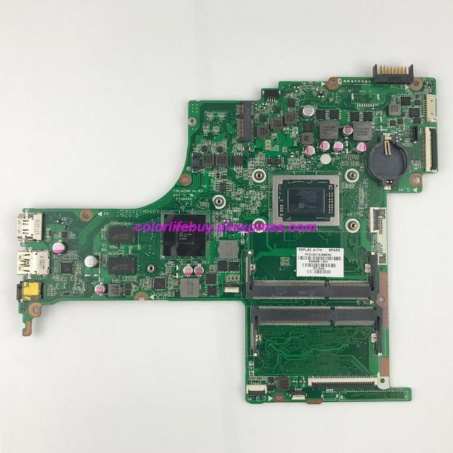 정품 809408 501 809408 001 da0x21mb6d0 r7m360/2 gb A10 8700P cpu 노트북 마더 보드 hp 15 ab 시리즈 15z ab00 노트북 pc 용