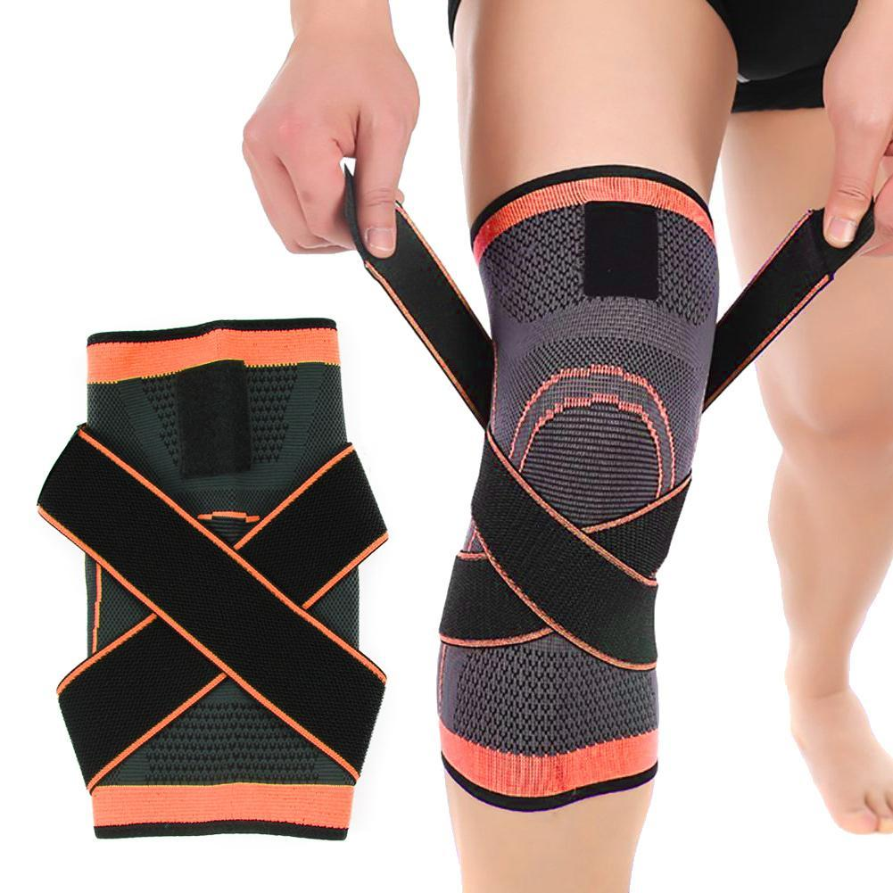 HOT 1pc 3d Pressurized Fitness Running Cycling Bandage Knee Support Braces Elastic Nylon Sports Compression Pad Sleeve