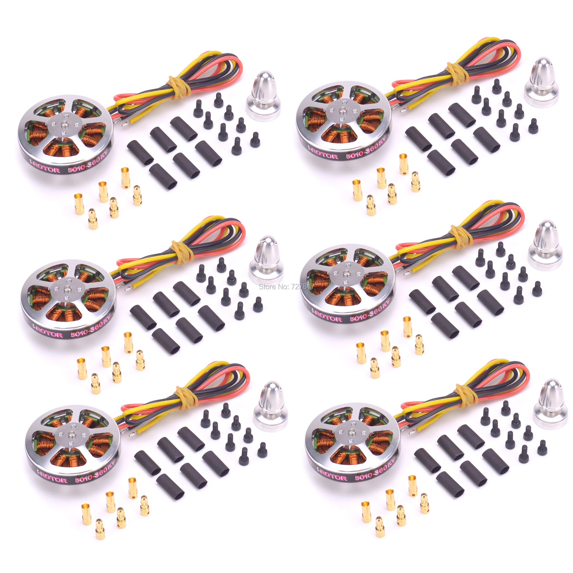 6 PCS <font><b>5010</b></font> 360KV / 750kv High Torque Brushless Motors For ZD550 ZD850 MultiCopter QuadCopter image
