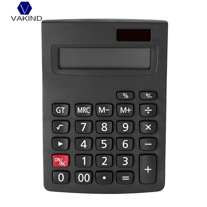VAKIND Portable 12 Digit Solar Calculator Large Display Big Button Calculating Tools Students School Office Desktop Finance