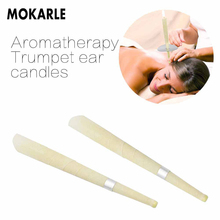 10Pieces Ear Cleaner Hopi Ear Candle Wax Remover Horn Earplug Tray Round Aromatherapy Ear Candle Indiana Candling Fragrance 1 20pcs horn earplug ear wax candle hopi ear candle wax remover tray round aromatherapy indiana candling fragrance ear cleaner