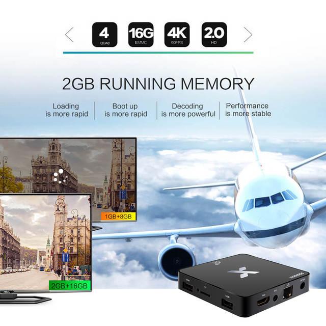 US $10 24 30% OFF|SCISHION Model X Android TV Box 2GB+16GB 4K Android 8 1  Rockchip RK3229 Quad core HD 3D 2 4G/5G WiFi Set Top Box Smart TV Box-in