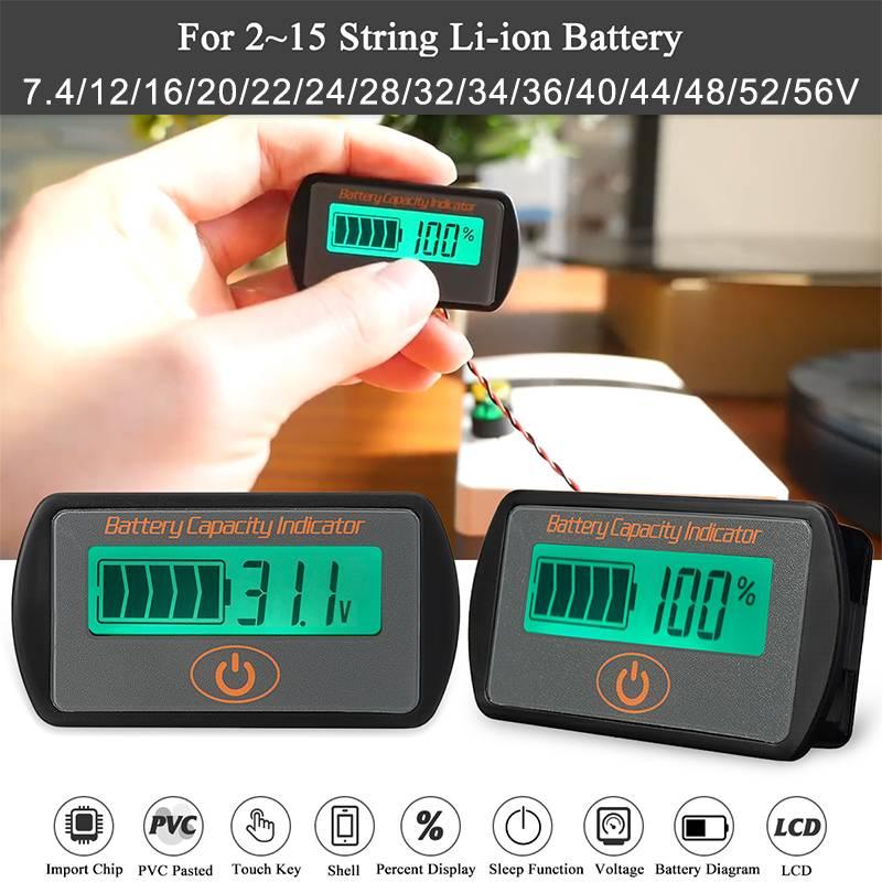 Capacidad de la batería 12-48V /& Medidor de Voltaje Digital LCD Monitor Probador de Batería Nueva