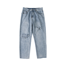 купить Spring Summer Vintage Blue Jeans Woman Straight Denim Pants Ripped Hole Jeans For Women High Waist Ladies Jean Femme Plus Size по цене 1780.69 рублей
