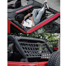 1pcs Car Multi-function Net Pocket Insulation Curtain Hammock Top Soft Cover Rest Bed Hammock For Jeep Wrangler JK 07-18 мультитул jeep multi function knife fitter jeep