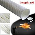 Vendita calda di scarico in fibra di vetro tubo di isolamento Per Webasto Eberspacher 22 millimetri 24 millimetri 2M di scarico in fibra di vetro tubo in ritardo di isolamento