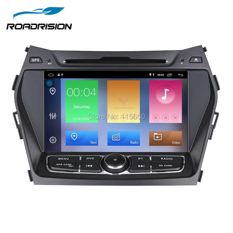 Roadrision Android 8,1 автомобильный DVD плеер gps для hyundai IX45/Santa Fe 2013 2014 Авто Радио Стерео навигационный блок Wi-Fi RDS BT