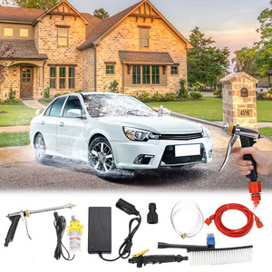 Image 4 - 80W 12V Dc Portable Car Washer High Pressure Auto Washing Machine Electric Clean Guns Device Vehicle Care Tools Kit Hairbrush
