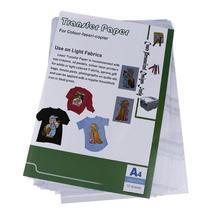 10 шт. 30*21,5 см Лазерная теплопередача бумага PU материал самопрополка бумага для футболки тепловые передачи полой бумаги s