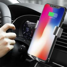 New car charging aluminum ring car charger fast charging QC3.0 vehicle wireless charger aluminum alloy vehicle charging bracket кардиган liu jo m18103ma36a 22222