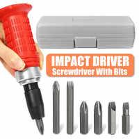 Impact Screwdriver Driver Set Carbon Steel Multi Bits Hammer Socket Repair Tools Kit Storage Box Screwdriver Head Set Universal