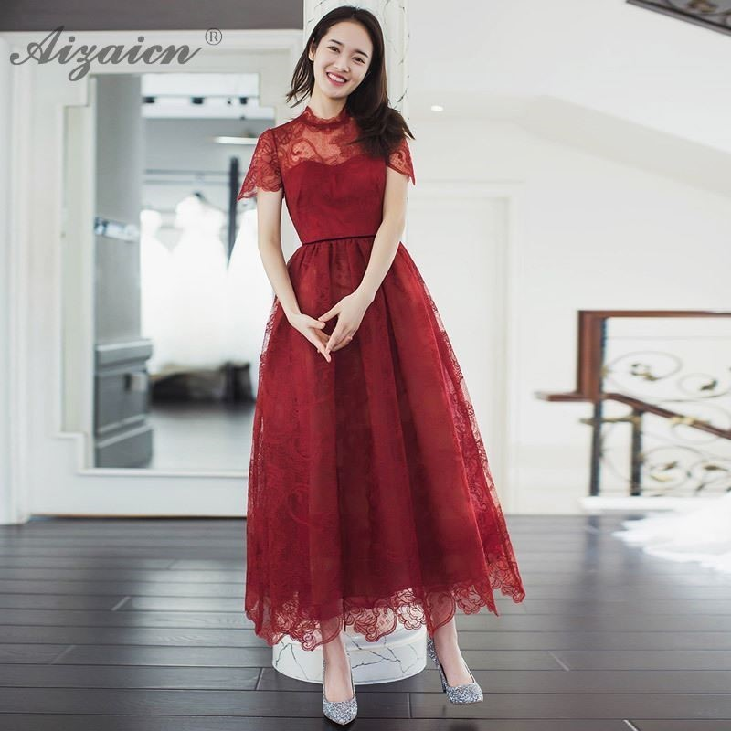 Bride 2019 Korean Fashion Qipao Dresses Traditional Chinese Oriental Cheongsam Elegant Dress Wine Red Wedding Gown Plus Size in Cheongsams from Novelty Special Use