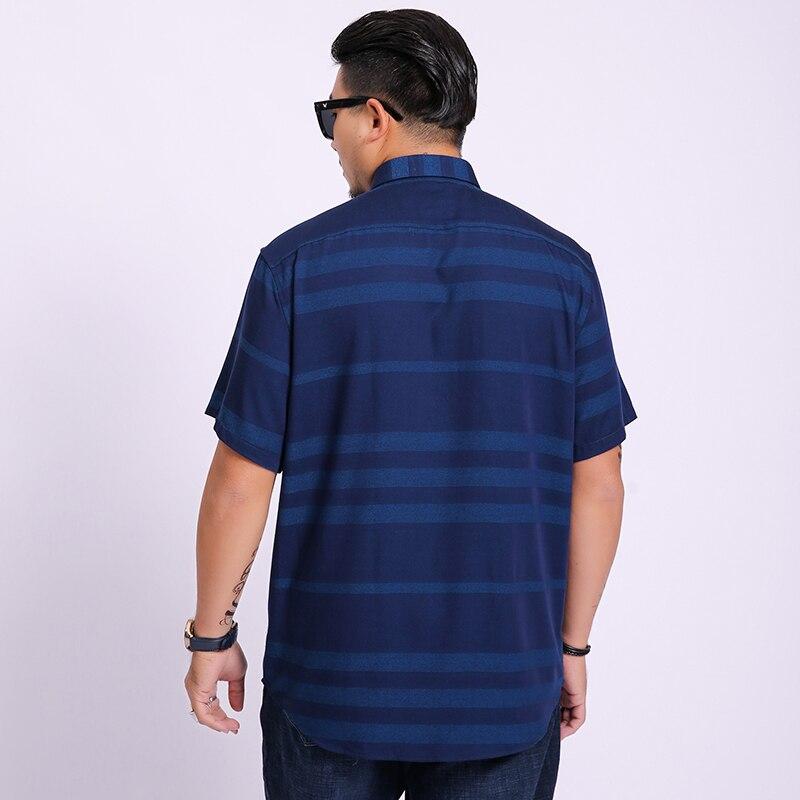 2019 Summer New Men 39 s Shirt plus Size Male Fashion Casual Striped Short Sleeve Shirt Brand Men 39 s Clothing 5xl 6xl 7xl 8xl in Casual Shirts from Men 39 s Clothing