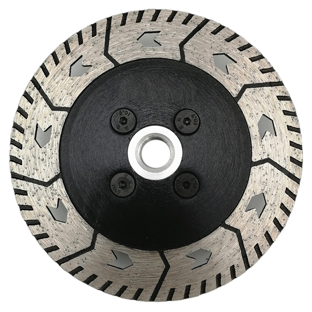 125 X 2.8mm M14 Double-Sided Diamond Saw Blade Grinding Slice Sharp Type With Flange Saw Blade Cutting Disc Diamond Wheel Bore