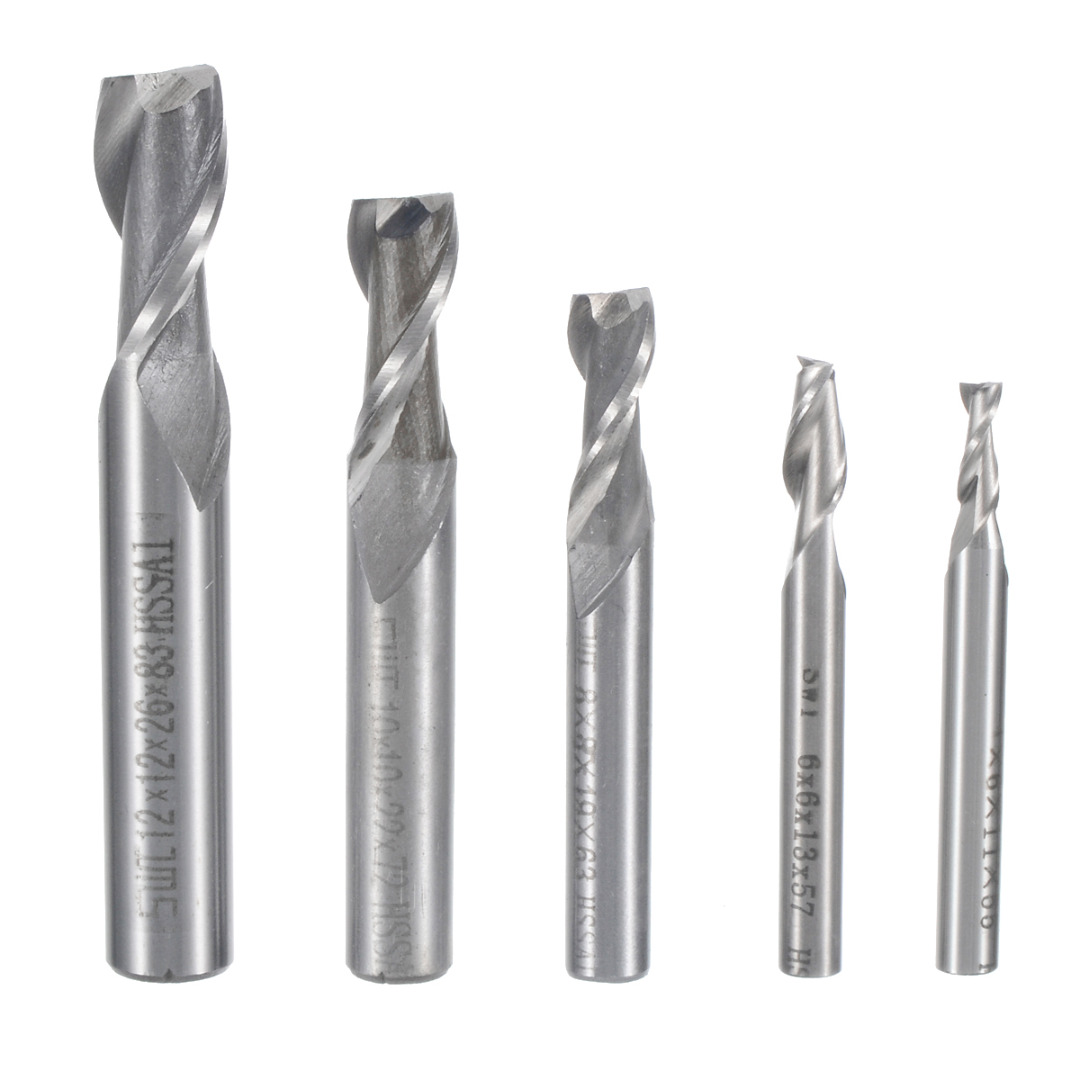 1Pc CNC Drill Bits 2 Flute Straight Shank End Mill Cutter Router CNC Bits Milling Tool 4/6/8/10/12mm