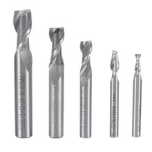 1Pc CNC Drill Bits 2 Flute Straight Shank End Mill Cutter Router CNC Bits Milling Tool 4/6/8/10/12mm 5pcs set straight shank end mill cutter 4 flute hss drill bit 4 6 8 10 12mm for cnc milling tool