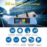 4G DVR Multimidia Driving Recorder With 7 inch Full Screen Smart Rearview Mirror HD Android Navigation Remote Monitoring System