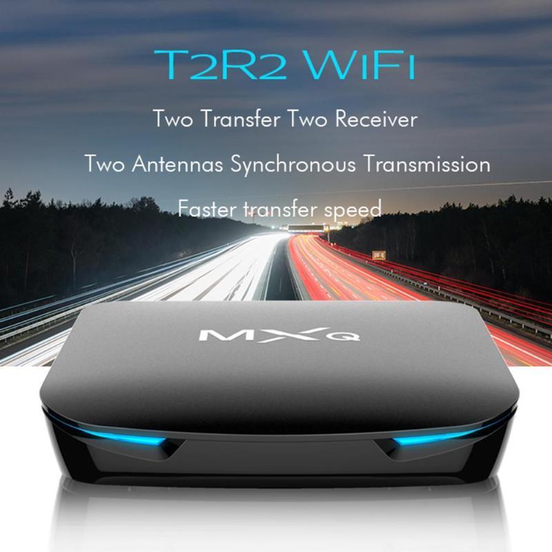 MXQ G12 Boîte de TÉLÉVISION Android 8.1 Bluetooth4.0 décodeur Box4 + 32 GB WiFi Boîte de TÉLÉVISION Intelligente Android TV Décodeur W/S905X2 Quad Core