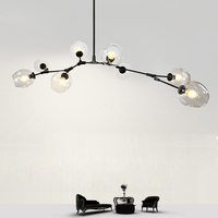 Ditoon Glass Ball Chandelier Nordic Lighting Modern Chandeliers Colorful Lampshade Pendent Lamp Glass Ball Luster