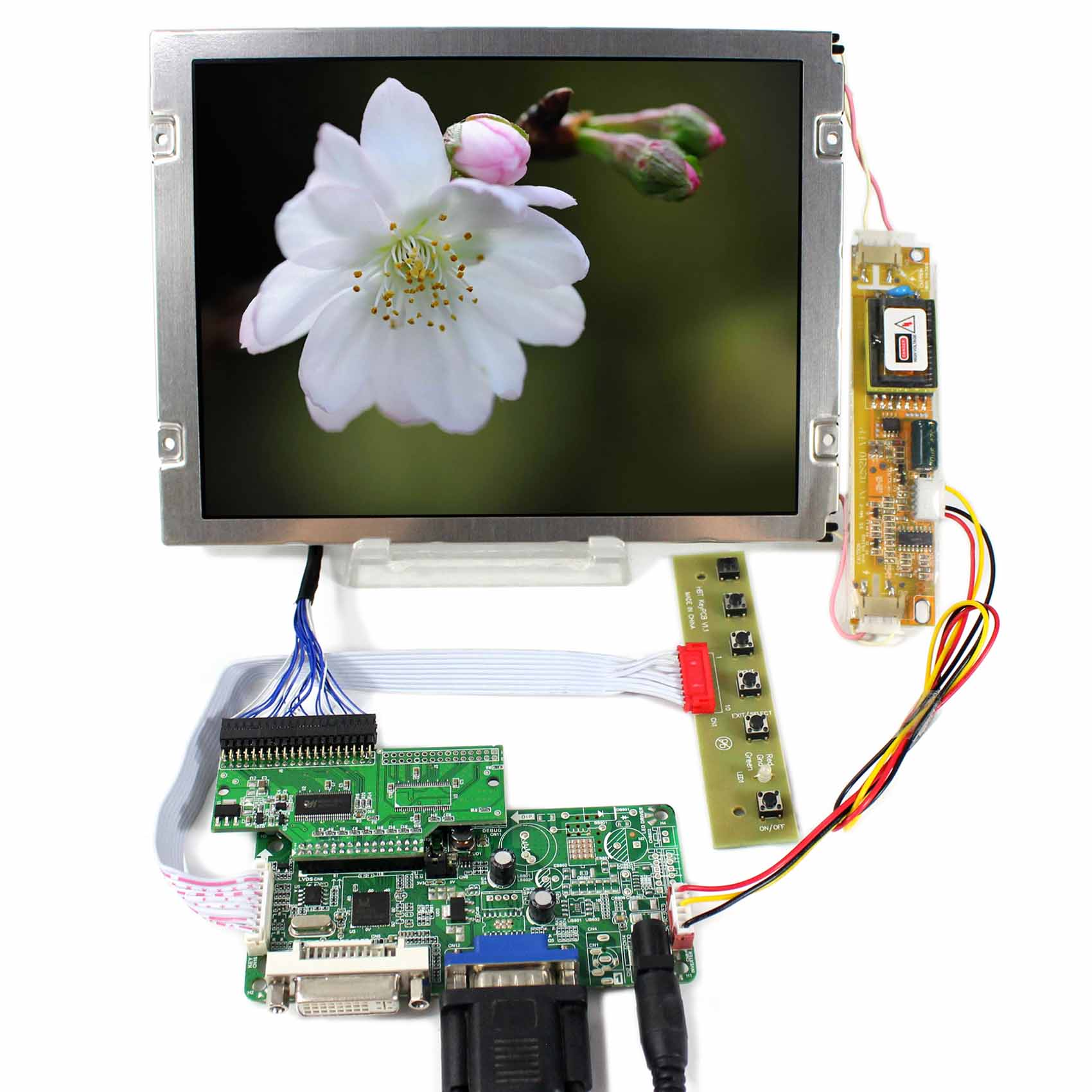 8.4 31 pins CMOS Connector 640x480 VGA DVI LCD Controller Board AA084VC03 Backlight 2CCFL 8.4inch LCD Screen RT2281 vga lcd controller board rt2270c 8 4inch 640x480 aa084vc03 lcd screen