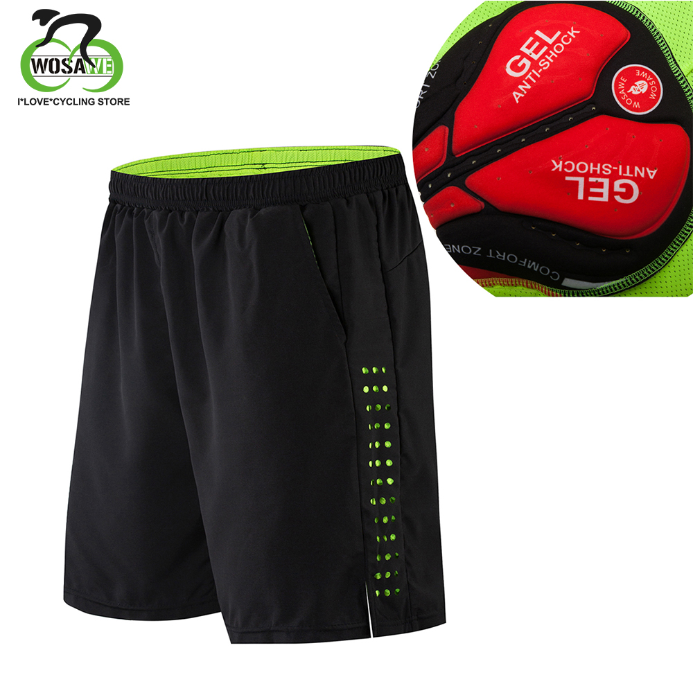 WOSAWE Cycling Shorts Men Gel Padded MTB Shorts Breathable Loose Fit Downhill Bicycle Underwear Mountain Bike Shorts ciclismo-in Cycling Shorts from Sports & Entertainment on AliExpress - 11.11_Double 11_Singles' Day 1