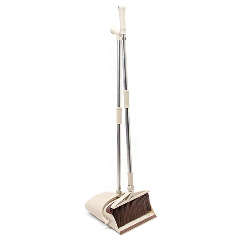opening promotion-Rotatable Broom And Dustpan Foldable Set, Long Handle  Dustpan, Extendable Sweep