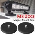 Paar Auto SUV Lkw Boot LED Licht Bar Starke Magnet Basis Montage Halterung Halter w/Gummi Pad 8 5x1 CM|Basis|   -