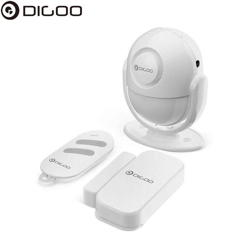 DIGOO DG-LADA 433MHz Infrared Motion Detector Multi-function Smart Home Security Alarm System PIR Host & Siren Set