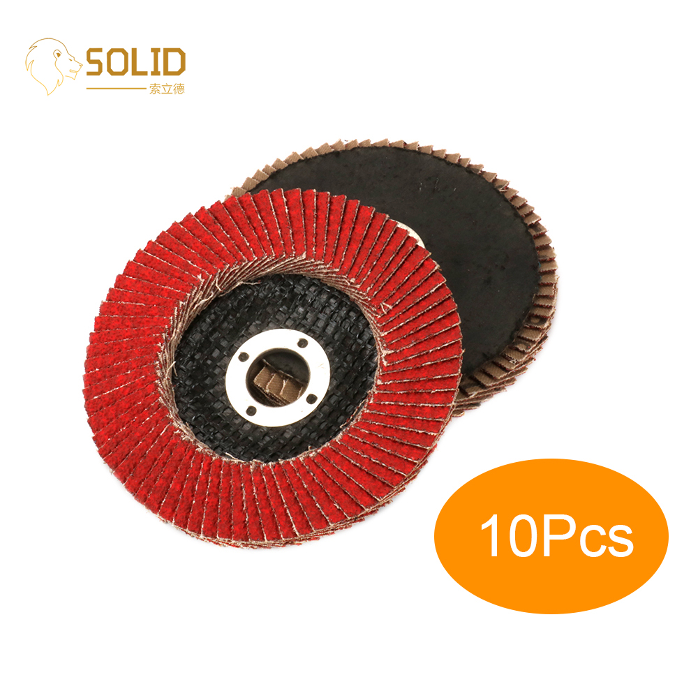 10Pcs 4 Inch 60# Ceramic Sanding Flap Disc Grinding Wheels Meshy Cap For Angle Grinder Polishing Metal Wood Plastic