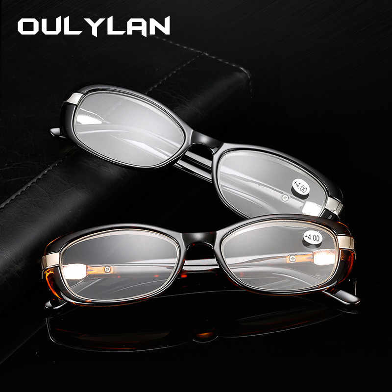 Oulylan Men Business Reading Glasses Vintage Clear Lens for Women Eyeglasses Hyperopia Reading Diopter +1.0 1.5 2.0 2.5 3.0