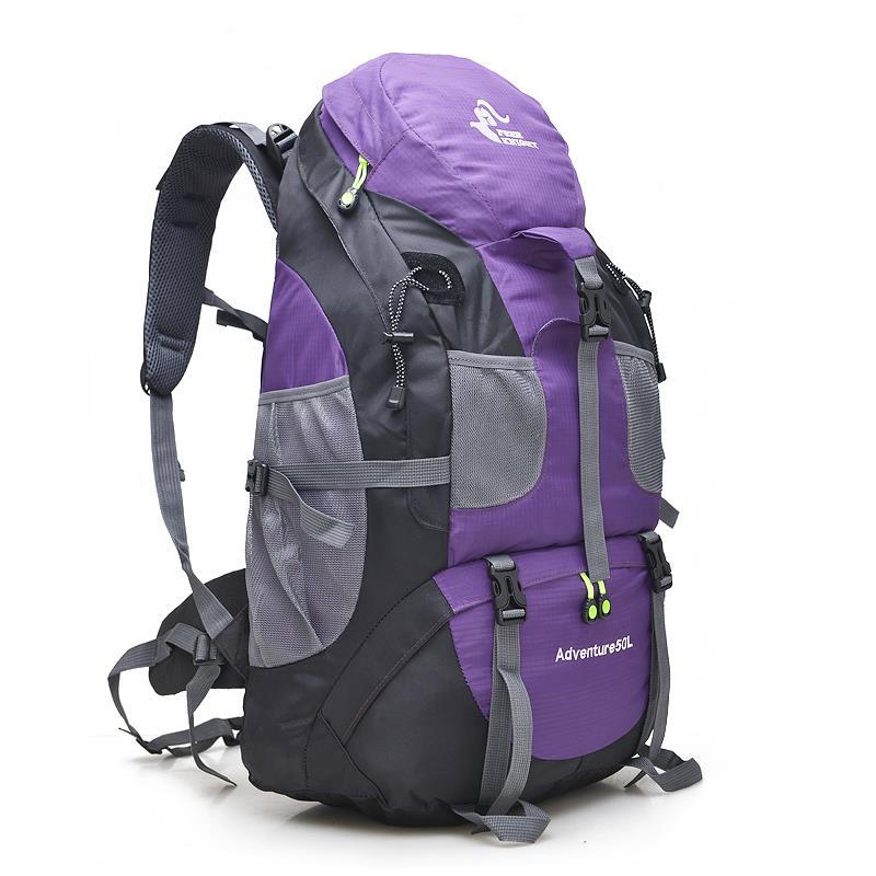 Borse Cavaliere Arrampicata Sportive Campeggio Borsa Outdoor Turista Montagna In Escursionismo Zaino Color purple Libero Color blue 50l Color Trekking Color Impermeabile Red green 76qwO7r