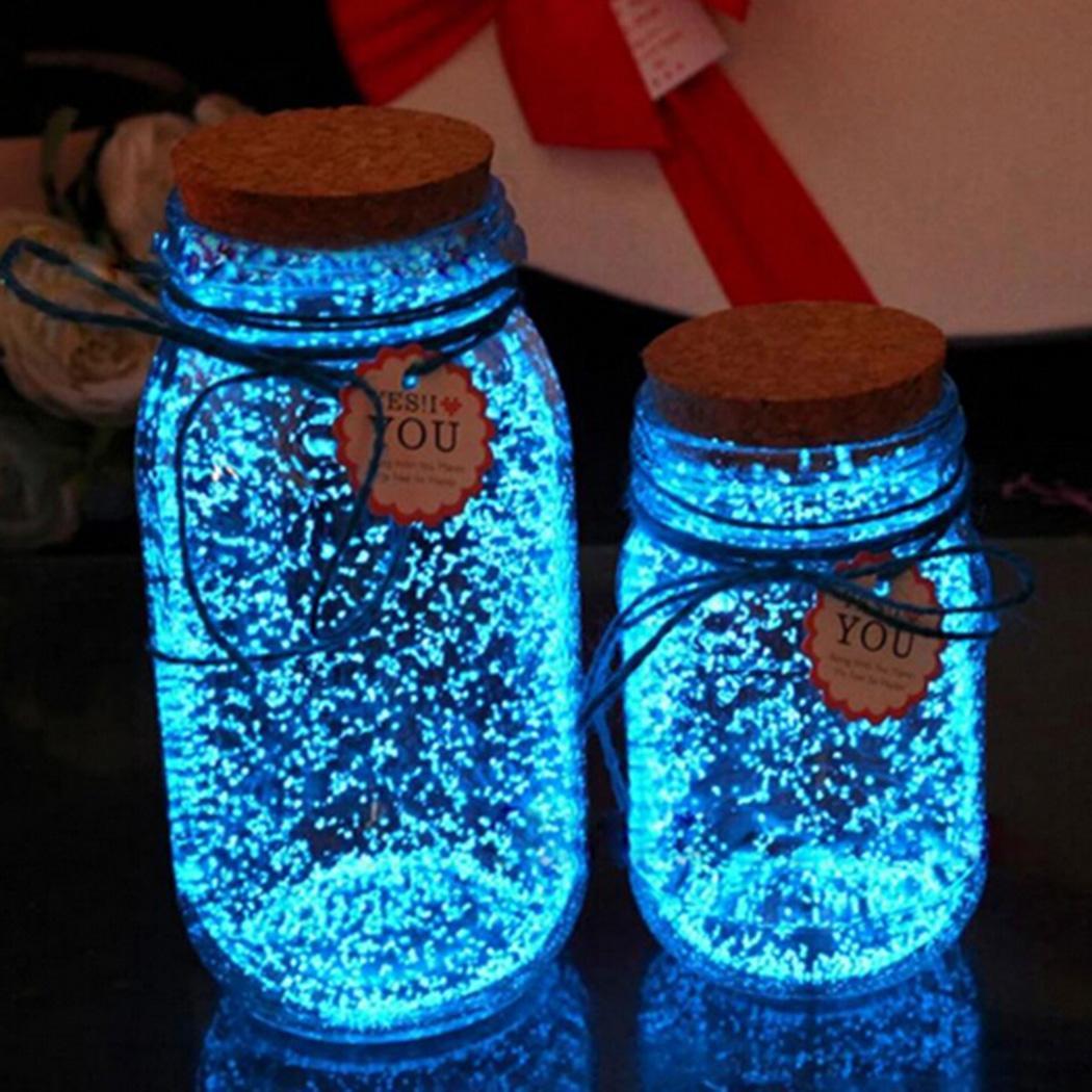 Sand Glow Luminous The Decoration Dark In Sky Wishing Blue Fluorescent Bottle Beautiful