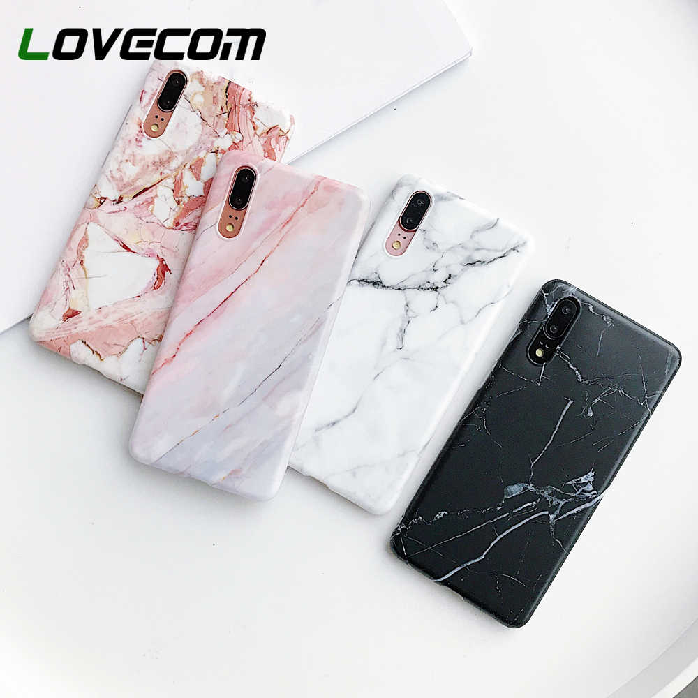 LOVECOM Classic Marble Phone Case For Huawei P30 P20 Pro Lite Mate 20 Pro NOVA 3 3i Lite Soft IMD Back Cover Protector Cases